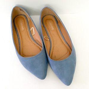 Lane Bryant powder blue pointed toe flats